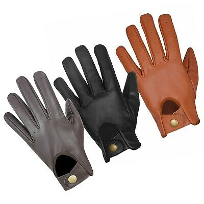 Mens Real Genuine Aniline Leather Classic Driving,Fashion Gloves