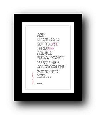 The Smiths ❤ William, It Was Really Nothing ❤ typography poster art print #2