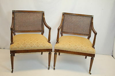 French Louis XVI Fruitwood Living Room Chairs , Circa 1930's