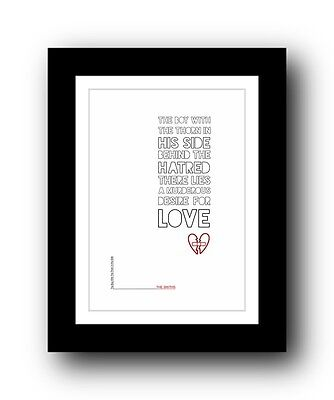 The Smiths ❤ The Boy With The Thorn ❤ song lyrics poster limited edition print