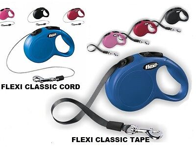Flexi Classic Retractable Dog Lead Adjustable Pet Puppy Training Leash Strong
