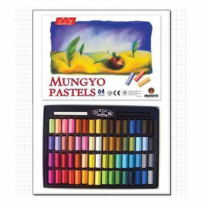 MUNGYO Soft Pastels 24/32/48/64 Colors Set Half Length Square Chalk Vivid Crayon