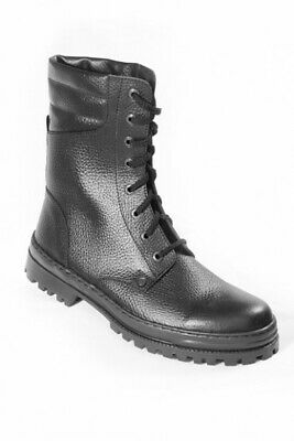 Russian Modern Army Genuine Leather Combat Boots!!! Black!!! All Size!!! New!!!