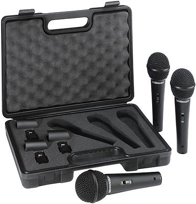 BEHRINGER ULTRAVOICE XM1800S 3 PACK Kit 3 microfoni dinamici con valigetta inclu