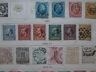 Netherlands 1867, Complete Set, King William III, Used, hinged. Total of 6