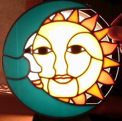 Stained Glass Style Sun and Moon- 3D Printed Plastic