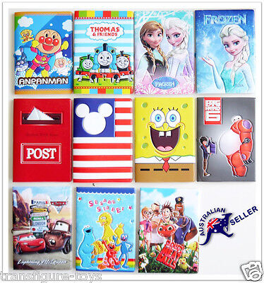 Christmas 3D Passport Cover Holder Card Travel Super Hero Thomas Minion Princess