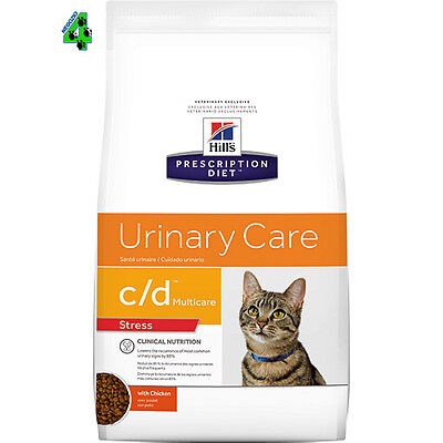 Hill's C/D URINARY STRESS 4 kg Prescription Diet Alimento Gatto gusto Pollo