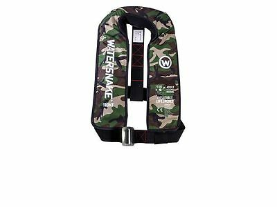 Watersnake Inflatable CAMO Manual Adult Life Jacket 160N, Boat Fishing*FREE P&P*
