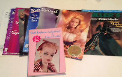 Lot of Barbies Collector Catalogs & Referance Guides  1990's -2001