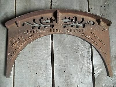 1800's antique ornate DANNER ROOT CUTTER tool (boot scrapper!) CAST IRON heavy