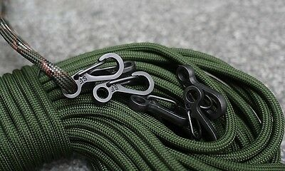 5xKeyring Carabiner Clip,Paracord,Parachute cord quick loop clips,molle system