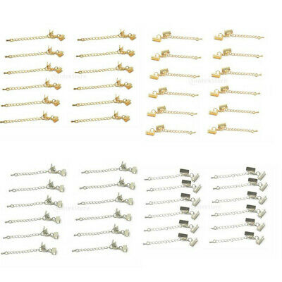 12PCS Ends Set with Lobster Clasp and Extension Chain Necklace Bracelet DIY Accs