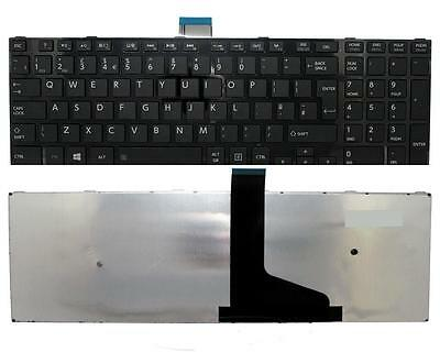 TOSHIBA SATELLITE C50-A KEYBOARD UK LAYOUT BLACK WITH FRAME New