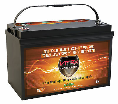 SLR125 VMAX Hi Capacity Solar AGM SLA Battery 12 Volt  Deep Cycle RV 125AH VRLA