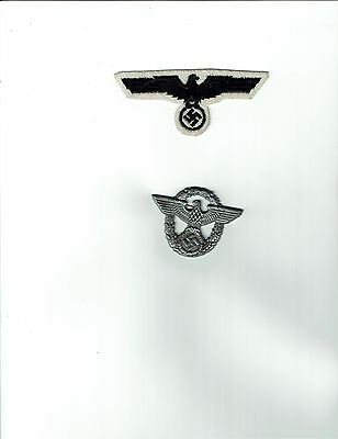 Nazi Police Captain Eagle and Navy Jumper Breast Eagle