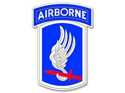 3x4 inch 173rd Airborne Red Sword Wing Sticker -decal ssi army logo paratrooper