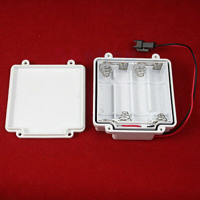 Battery Holder 4 Cell AA LR6 Case 6V Waterproof DC Box Cover JST SM 2 Pin Plug