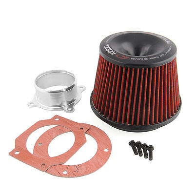 1x Apexi Universal Power Intake Air Filter 75mm With Dual Funnel Adapter Useful