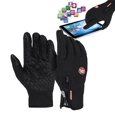 Winter Cycling Anti-slip Thermal Fleece Touch Screen Full Finger Gloves Mittens