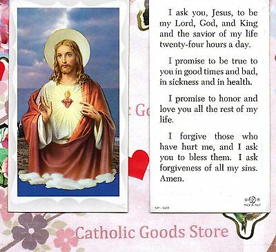 Sacred Heart  / front -  I Ask you Jesus... / back - Paperstock Holy Card