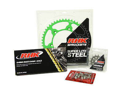 RHK NEW Mx Kawasaki KX450F 06-17 Green Motocross Chain Sprocket Bolt Kit 13/48