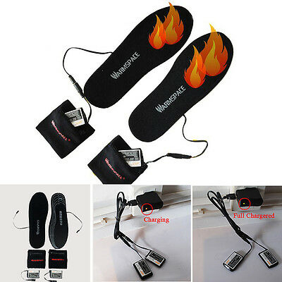3.7V Electric Heated Insole W Rechargeable 2000MAh Li-ion Battery Shoes Pad Warm