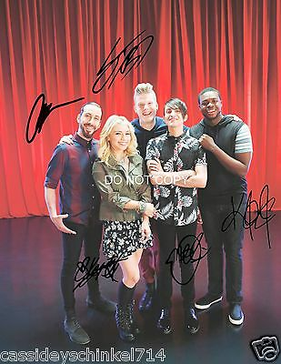 PENTATONIX A CAPPELLA band Reprint Signed 12x18