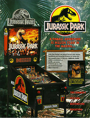 1993 Data East Jurassic Park Pinball Flyer