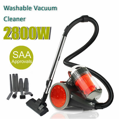 3000W Bagless Cyclone Cyclonic Vacuum Cleaner Filtration System Floor Brush New