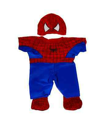 """Spiderman Teddy outfit / clothes to fit 8"""" bear factory bears"""