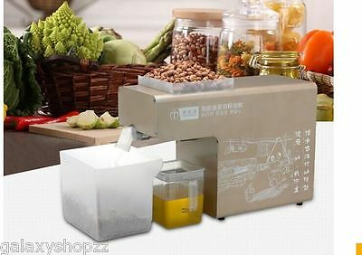 Automatic Small Oil Press Machine Stainless Steel Cold Press Hot press C