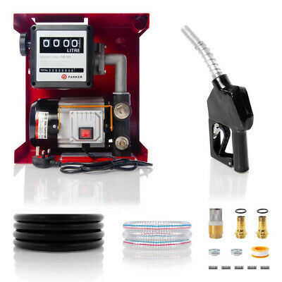 230V Wall Mounted Diesel Adblue Transfer Fuel Pump Kit - With Automatic Nozzle