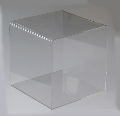 "4-sided Clear Plexi Acrylic Transparent 12"" Cube Display T-Shirts Pants Riser"