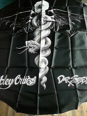 Vtg 1989 New Nip Nos Motley Crue Dr Feelgood Sword Serpent Silk Wall  Tapestry