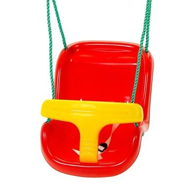 NEW Plum Red & Yellow Baby Swing Seat Outdoor Toys Babies Toddlers Kids Backyard