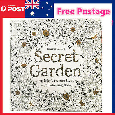 Secret Garden Colouring Filling Book Inky Treasure Hunt Colour Relieve Release