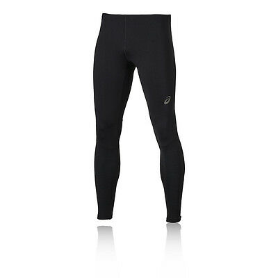 ASICS Lite Show Mens Black Long Running Fitted Sports Tights Bottoms Pants