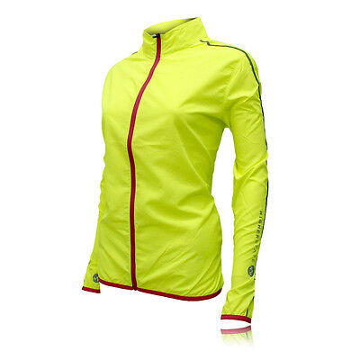 Higherstate Lightweight Womens Pink Yellow Running Sports Zip Jacket Top
