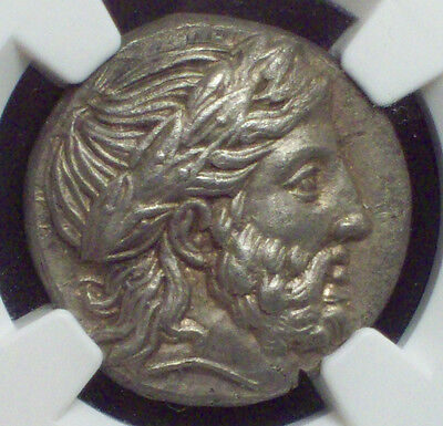 NGC Ancients GREEK 359-336 BC Kingdom Macedon Philip Tetradrachm AU 5/5 2/5 ZEUS