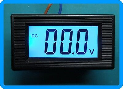 3 1/2 Blue LCD Digital Volt Panel Meter AC or DC 9V-12V 0-200mV