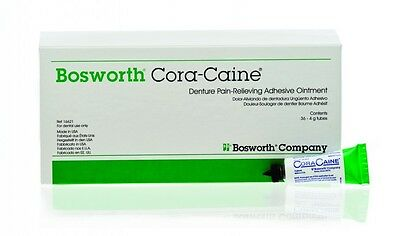 Cora-Caine Denture Pain-Relieving Adhesive Ointment 16624 - Bosworth 1oz