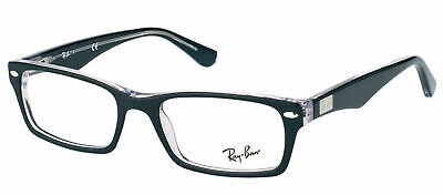 Ray-Ban RX 5206 2034 Top Black Crystal Plastic Rectangle Eyeglasses 52mm