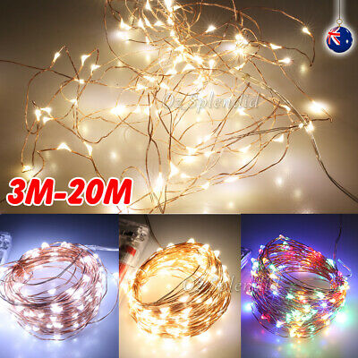 2-10M LED Copper Wire String Fairy Christmas Tree Xmas Party Lights Warm White
