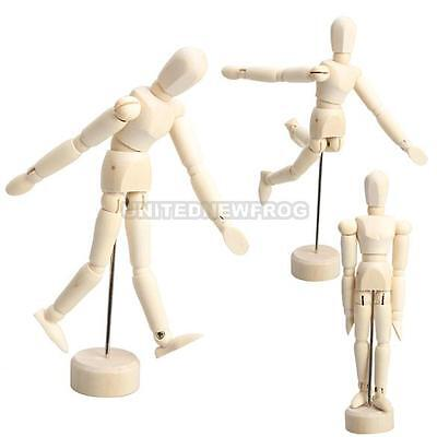 Male Wooden Figure Limbs Manikin Mannequin Human Artist Drawing Model Sketch New