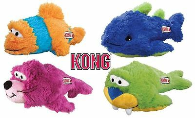 Kong Aqua Knots – Plush Squeaky Dog Puppy Toy - Knotted Rope For Strength