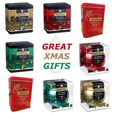 Twinings Merry Christmas Gifts Baubles Loose Tea Christmas Tins From £4.49 Each!