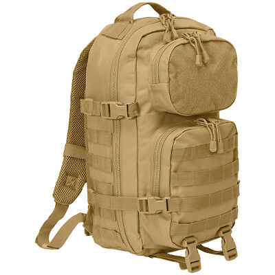 Brandit Us Military Combat Patrol Cooper Patch Molle Army Assault Backpack Camel