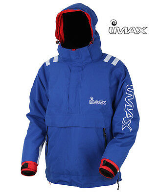 New Imax Coast Thermo Smock Blue White Sea Fishing Pier Beach Surf Jacket