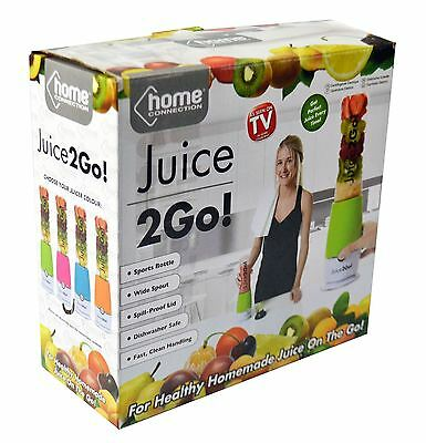 Juice 2Go Electric Juicer Blender Smoothie Mixer Maker Sports Drinks Bottle